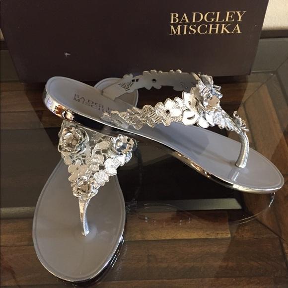 Badgley Mischka Womens Bali Jelly Sandal